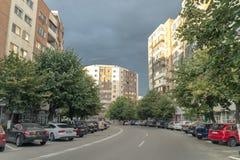 Râmnicu Vâlcea -典型的镇在罗马尼亚 库存图片