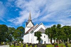 RÃ¥de church (east south-east). Royalty Free Stock Images