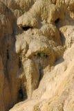 Réotier沉积,上阿尔卑斯省,法国被石化的喷泉  免版税库存图片