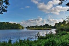 Różni krajobrazy nabierający notthern Germany lasy, pola, jeziora i piękni nieba -, obraz stock