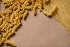 Różnorodni typ włoski makaron zdjęcia stock