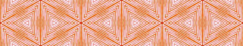 Różowa czerwona Bezszwowa Rabatowa ślimacznica Geometryczny Waterco ilustracja wektor