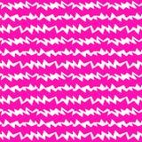 Różowej zigazag trawy bezszwowy wzór ilustracja wektor