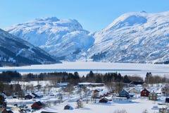Røldal на зимнем времени Стоковые Изображения RF
