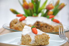 Rübitorte - german carrot cake for Easter Stock Photos