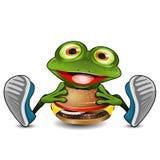 A rã come o cheeseburger ilustração do vetor