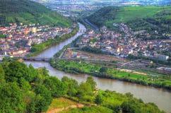 RÃ ¼ desheim莱茵河 免版税库存照片