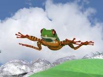 Rã do paraquedas Fotos de Stock Royalty Free
