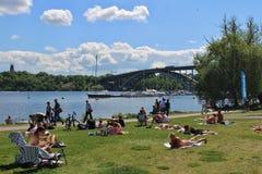 RÃ¥lambshovsparken在斯德哥尔摩 免版税图库摄影