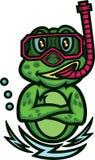 Rã que mergulha desenhos animados Imagem de Stock Royalty Free