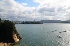 RÃa de Ribadeo, Asturias, Spanien Royaltyfria Foton