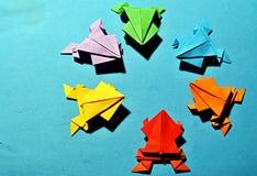 Rãs do origâmi Imagem de Stock