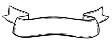 Ręka rysujący tasiemkowy sztandar obraz stock