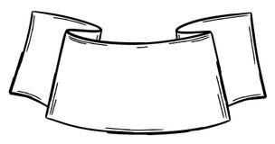 Ręka rysujący tasiemkowy sztandar obrazy stock