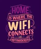 Ręka rysuje literowanie - Domowy, wielki projekt dla jakaś zamierza dokąd wifi łączy automatycznie domowy mądrze royalty ilustracja