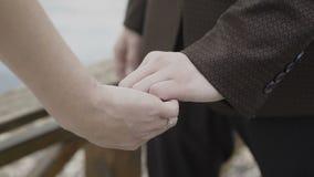 Ręki kochankowie które pieścą each inny zbiory wideo