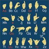 Räcka alfabetet (för finger), vektor Arkivfoto
