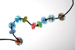 Räcka blåst exponeringsglas pryder med pärlor Royaltyfria Foton
