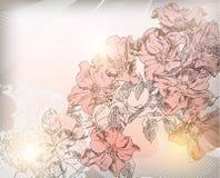 Räcka den dra blomman Royaltyfri Fotografi