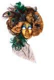 Räcka - den gjorda Venetian karnevalet maskerar Royaltyfri Foto