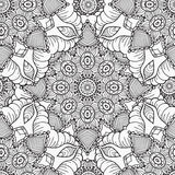 Räcka den utdragna konstnärliga etniska dekorativa mönstrade blom- ramen Royaltyfria Bilder