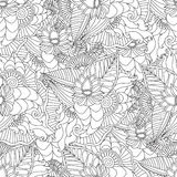 Räcka den utdragna konstnärliga etniska dekorativa mönstrade blom- ramen Royaltyfri Foto