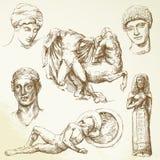 Forntida greece stock illustrationer