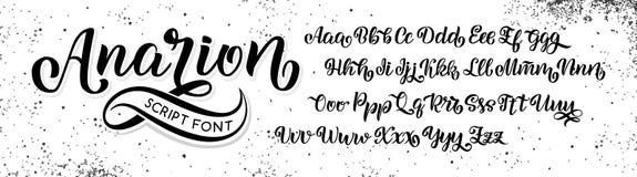 Räcka den utdragna stilsorten Borste målade bokstäver Handskrivet skriftalfabet som isoleras på vit bakgrund Handgjort alfabet fö vektor illustrationer
