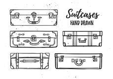 Räcka den utdragna vektorillustrationen - samling av moderesväskor stock illustrationer