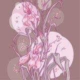 Räcka-dra blomma Arkivbilder