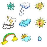 Räcka-dragen vädersymbol Royaltyfria Bilder