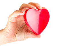 Räcka hållande hjärta som förälskelsesymbol Fotografering för Bildbyråer
