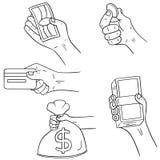 Räcka hållande pengar Arkivbilder