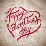Räcka märka lycklig valentinday� Arkivbild