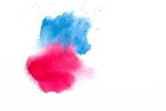 Räcka målad vattenfärgtextur som isoleras på vit bakgrund Royaltyfri Fotografi