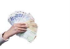 räcka pengar Royaltyfri Bild
