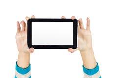 Räcka TabletPC:N Arkivbild