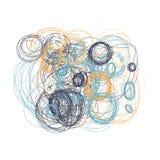 Räcka utdraget cirklar Etnisk stil Naturliga signaler Arkivfoto