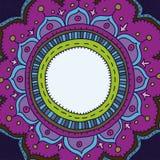 Räcka utdraget inramar i orientaliskt utformar vektor illustrationer