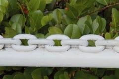Räcke för Chain sammanlänkning Arkivfoto
