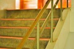Räcke och trappa Arkivbild