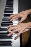 Räcker att spela för pianist Royaltyfri Bild