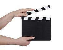 Filma clapperboarden fotografering för bildbyråer
