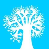 Räcker trädet vektor illustrationer