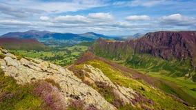 Räckviddslut Ridge i sjöområdet, Cumbria, Englnd Arkivfoto
