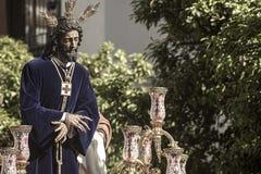Räddad helig vecka i den Seville Jesus fångenen och Fotografering för Bildbyråer