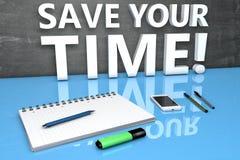 Räddning din tid Arkivfoto