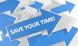 Räddning din tid Fotografering för Bildbyråer