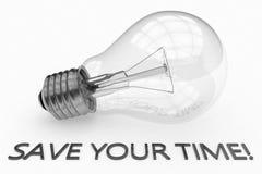 Räddning din tid vektor illustrationer