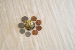 Räddning med mig i vår lokala bank Arkivfoto